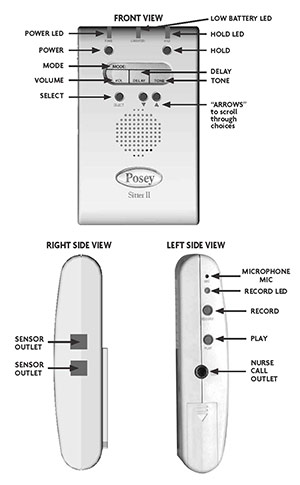 posey chair alarm instructions