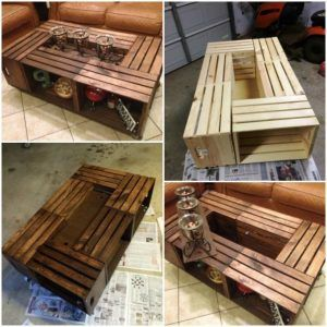 wood crate coffee table instructions
