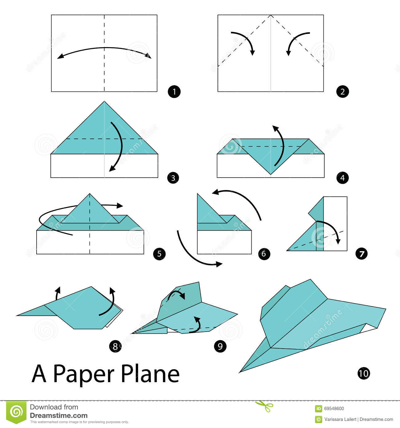 instructions on how to make a paper airplane