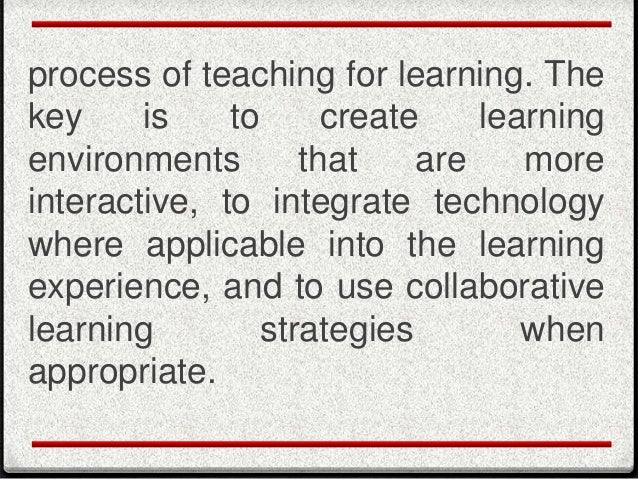 importance of instructional strategies